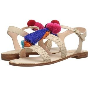Kate Spade Sunset Sandals with Tassels and Poms